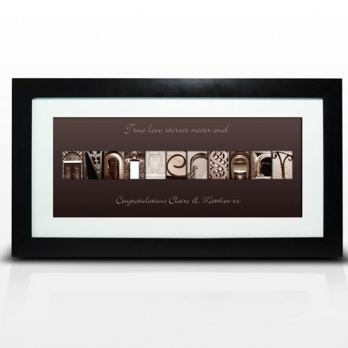 Personalised Affection Art Anniversary Large Frame